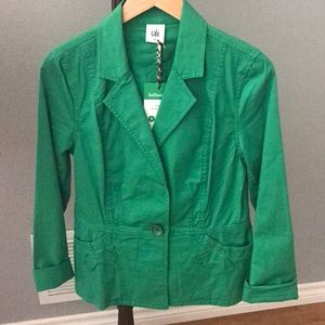 New cabi size small green jacket